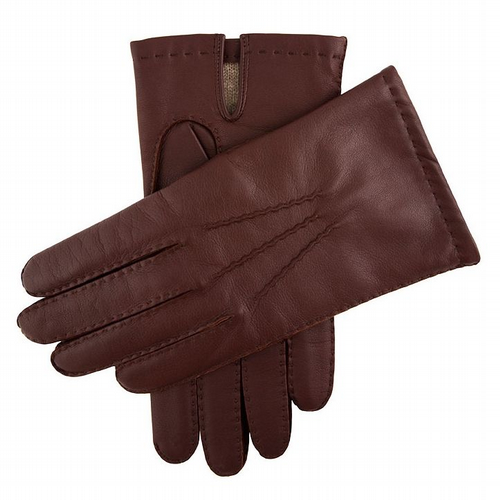 Dents - Men's Leather Gloves with Cashmere Lining - English Tan